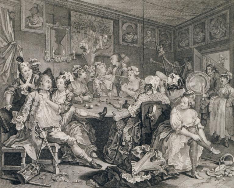 A Rake's Progress, Plate 3, 1735 (etching)
