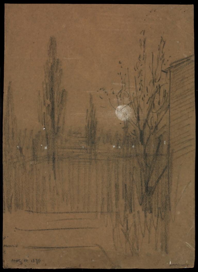 Crane charcoal and chalk